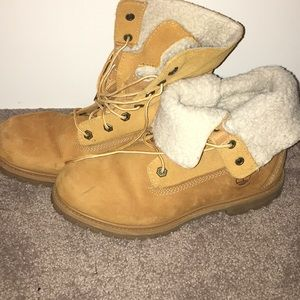 Teddy style Timberland boots